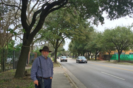 ": Jonathan Smulian with the Houston Heights Association wants part of Yale Street be designated a ""green corridor."""