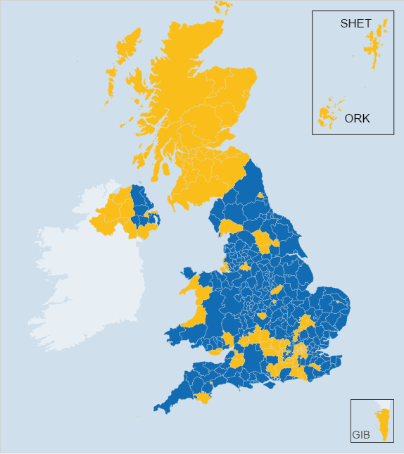 map of voting results
