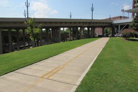 A segment of the White Oak Trail near the University of Houston-Downtown