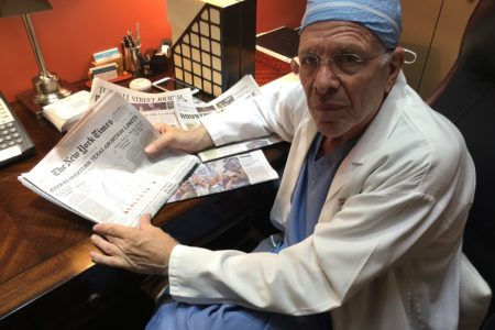 Dr. Bernard Rosenfeld reviews the coverage in four different newspapers the day after the Supreme Court ruled his abortion clinic did not need to meet the same standards as an outpatient surgery center.