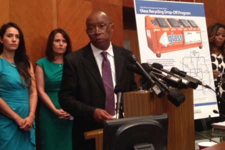 Houston Mayor Sylvester Turner explained Strategic Materials will operate ten glass recycling sites in addition to nine facilities managed by the City that also take that material.