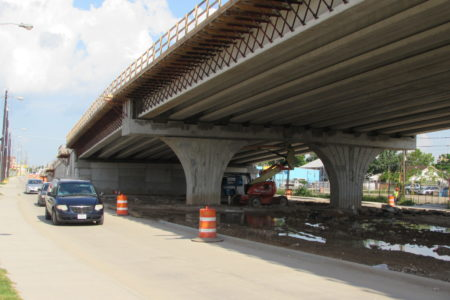 Metro has discussed turning the area under the overpass into a recreational space.