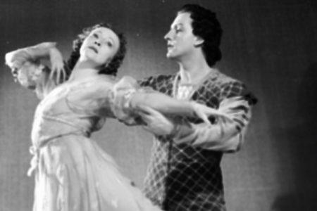 "Galina Ulanova and Yury Zhdanov in the ballet ""Romeo And Juliet"""