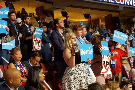 Some Texas Delegates React With Emotion to Bernie Sanders' Speech