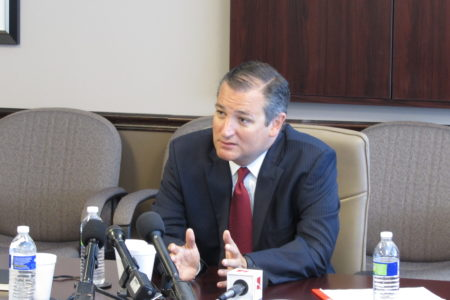 Senator Ted Cruz tells local business leaders that NASA funding should be a priority.