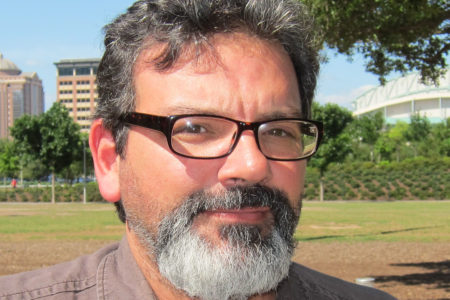 Photo of Doctor René Saldaña Jr. Author of the Mickey Rangel Mystery Series for Young Readers. Arte Publico Press Author of the Month for August 2016
