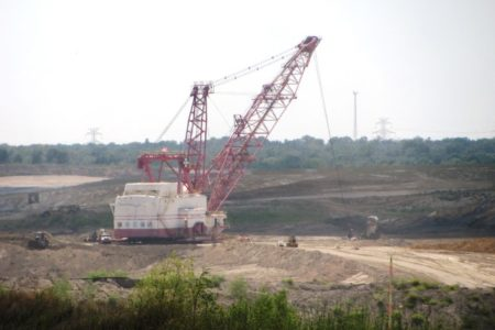 Strip mining at Big Brown Coal Mine in Freestone County, Texas