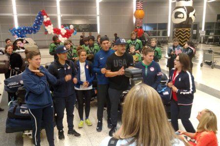 Houston Olympians Return Home
