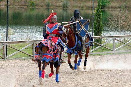 Horses joust