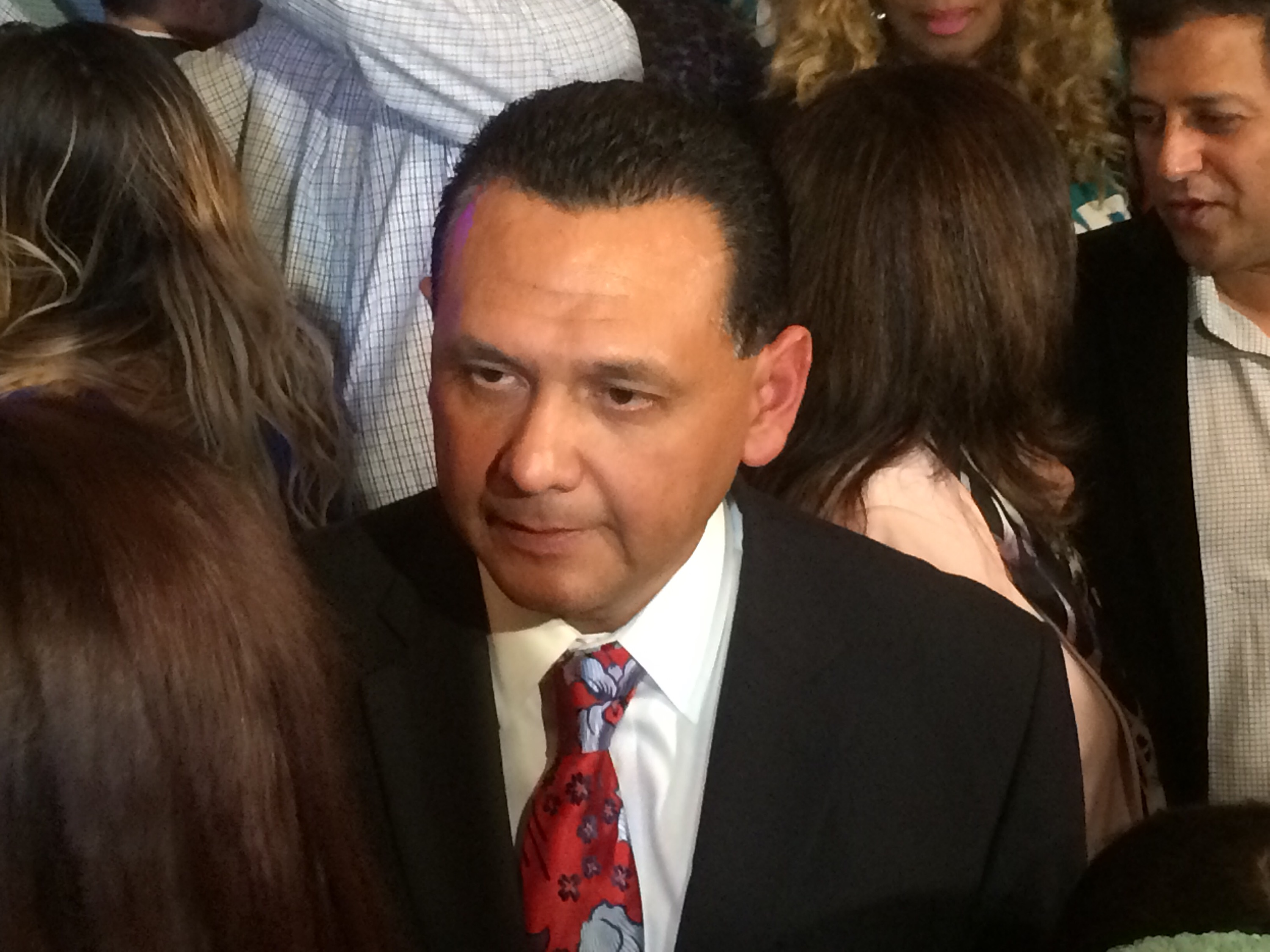 Ed Gonzalez declares victory as Sheriff of Harris County.
