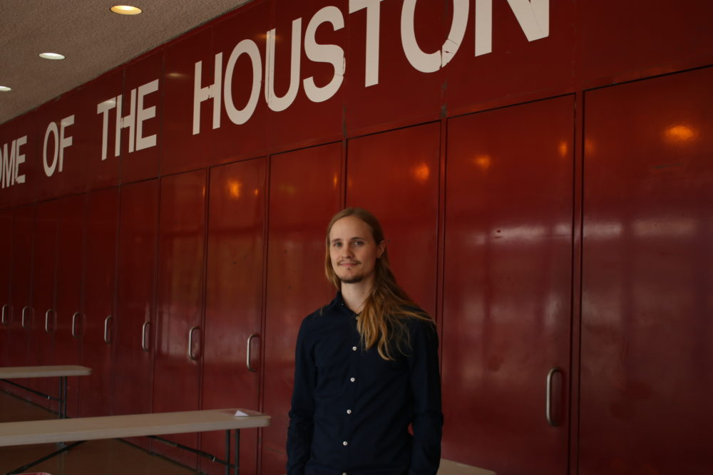 graduated at the top of his class this month at the University of Houston's College of Education.