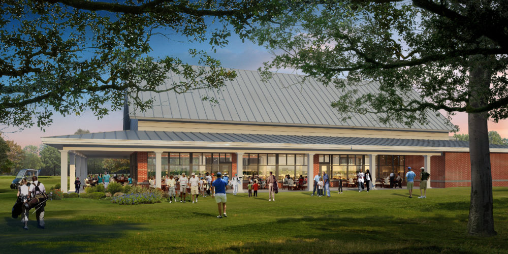 The second phase of the renovation project entails building a new clubhouse.