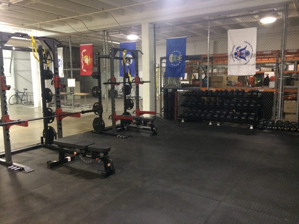 The facility Combined Arms has in Houston includes a fitness room.