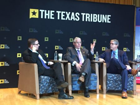 State Rep. Dan Huberty, R-Humble, and Sen. Larry Taylor, R-Friendswood, spoke with the Texas Tribune's Evan Smith at a public education symposium Friday.