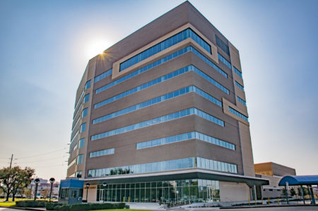 The new Institute of Forensic Sciences is located in the Texas Medical Center and it is a state of the art nine story building.