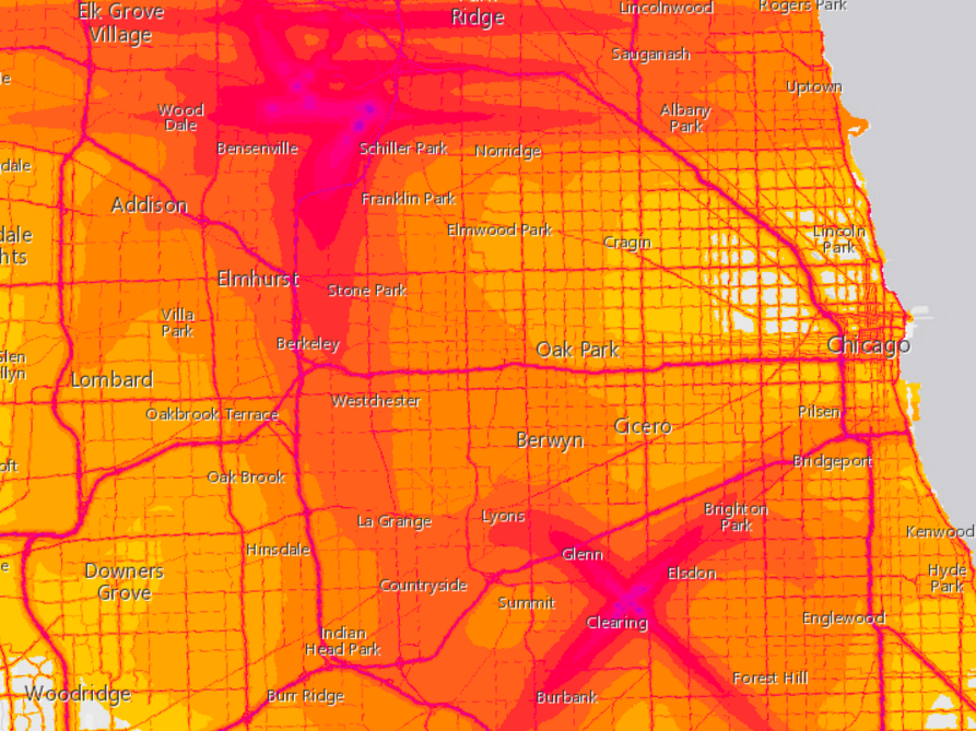 Transportation noise mapped for Houston, other USA cities