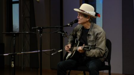 Rodney Crowell performs in the Geary Studio