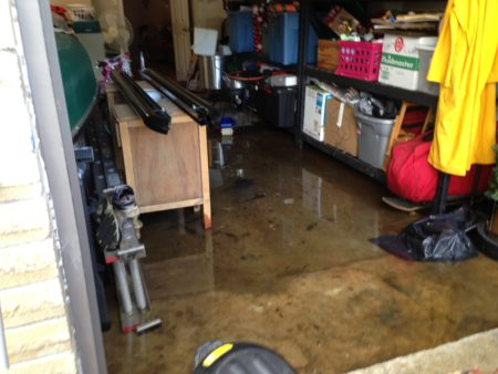 The Pearland home of Michelle Maynor and David Lauritsen got almost three inches of rain in just one hour.