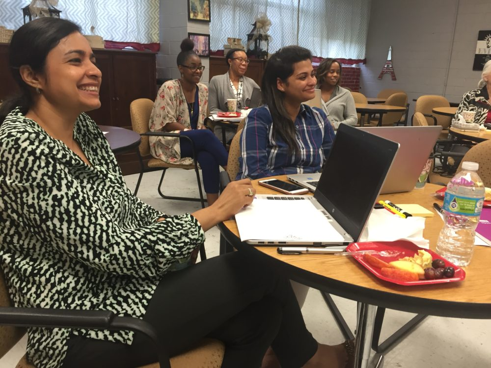 Ninth grade teachers Seema Dwivedi and Superna Arya joined their fellow instructors this spring to prepare for a new kind of ninth grade. It will involve new kinds of tests, more hands-on projects and students taking more charge of their own learning.