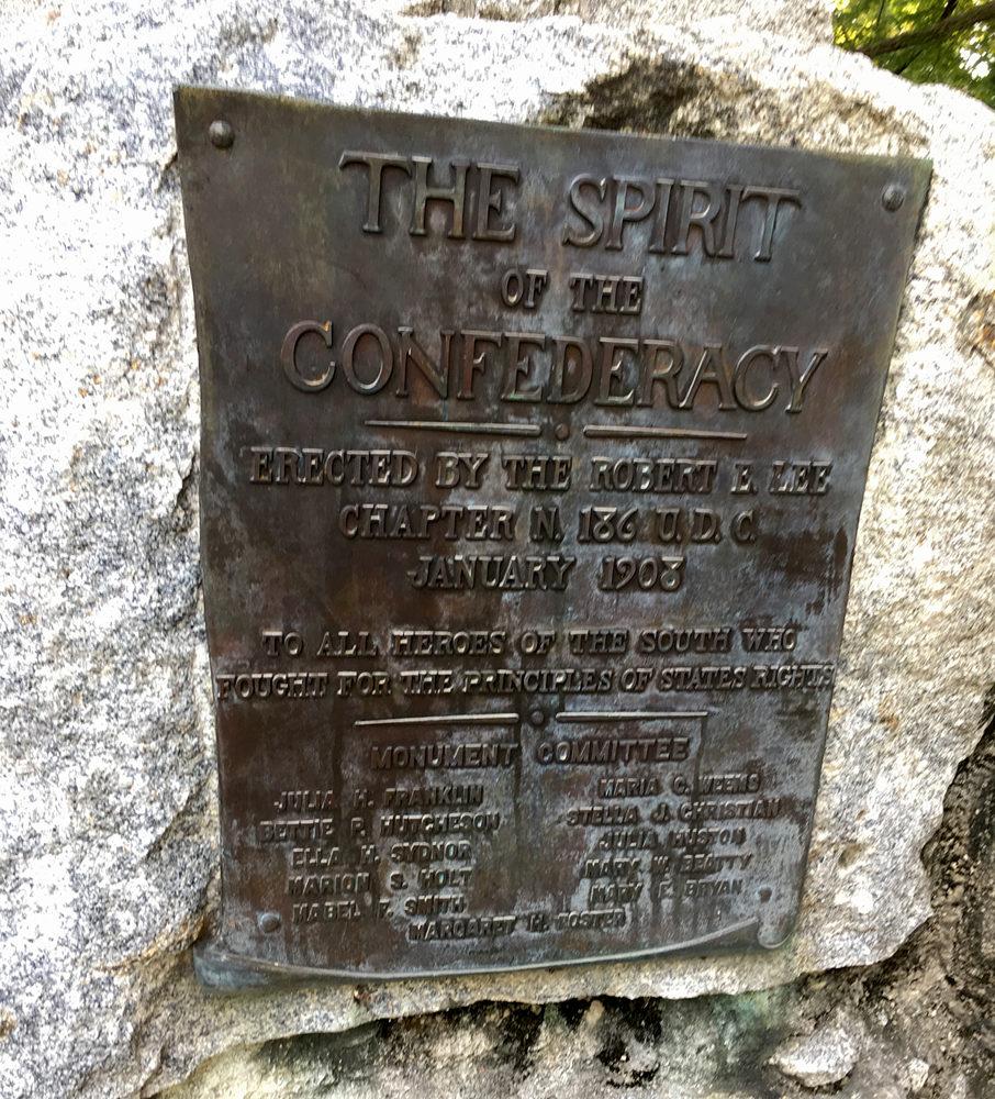 Spirit of the Confederacy Plaque
